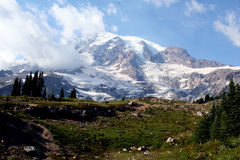 Mount Rainier Peak Royalty Free Stock Images