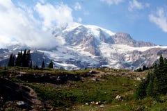 Mount Rainier Peak. Peak of Mount Rainier, Washington royalty free stock images