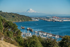 Mount Rainier And Port 7 Royalty Free Stock Image