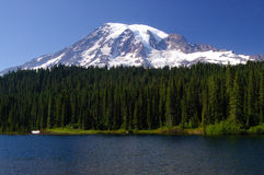 Mount Rainier Portrait Royalty Free Stock Photography