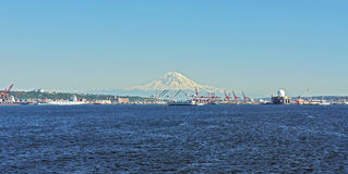 Mount Rainier and Puget Sound Stock Photography