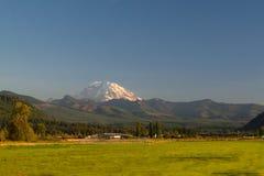 Mount Rainier with Rural Farm royalty free stock photography