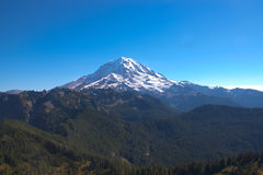 Mount Rainier shot from the east. Beautiful Mount Rainier in Washington state, shot during the fall from Tolmie Peak stock photography