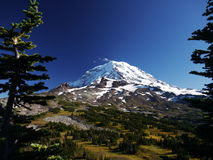Mount Rainier and Spray Park Stock Photo