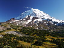 Mount Rainier and Spray Park Royalty Free Stock Photo