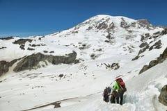 Mount Rainier summit, Washington, USA Stock Photos