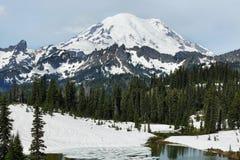 Mount Rainier summit, Washington, USA Royalty Free Stock Photos