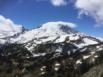 Mount Rainier from Sunrise entrance Royalty Free Stock Photography