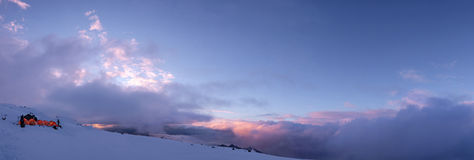 Mount Rainier Sunset Storm Royalty Free Stock Image