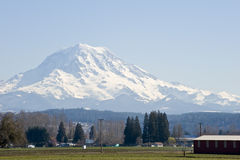 Mount Rainier volcano Stock Photo
