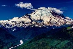 Mount Rainier Washington, som sett från Crystal Mountain Royaltyfri Fotografi