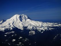 Mount Ranier from the Air Royalty Free Stock Image