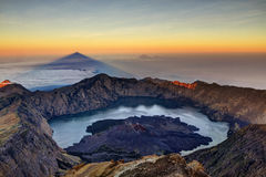 Mount Rinjani Sunrise. Sunrise from the peak of Mount Rinjani in Lombok, Indonesia