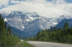 Mount robson. In the rocky mountains of canada stock images
