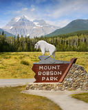 Mount Robson, Canadian Rockies, British Columbia Stock Image