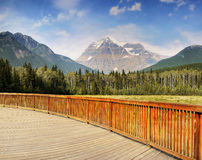 Canada Mount Robson Parkway Tour. Mount Robson (3.954m) view from Visitor Centre. Provincial Park, British Columbia Canada Stock Photos