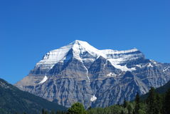 Mount Robson. Photo taken at Mt.Robson provincial park British Columbia Canada Royalty Free Stock Photos