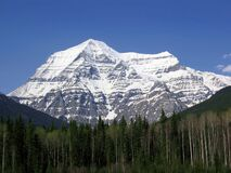 Free Mount Robson Provincial Park, British Columbia, Canadian Rocky Mountains, Canada - Mount Robson On A Beautiful Spring Day Stock Image - 183313441