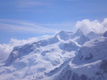 The mount rosa. The glaciers of mount Rosa Royalty Free Stock Photos