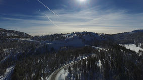Mount Rose Snow. Mount Rose Ski Resort in the Sierra Nevada`s Royalty Free Stock Photography