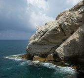 Mount Rosh Hanikra in Israel Royalty Free Stock Images