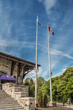 Mount Royal Chalet flags Royalty Free Stock Image