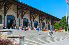 Mount Royal Chalet. Montreal, Canada - August 16, 2017: Mount Royal Chalet French: Chalet du Mont-Royal is a famous building located near the top of Mount Royal royalty free stock image