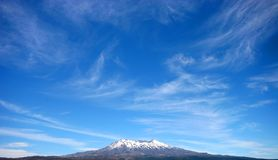 Mount Ruapehu. In New Zealand royalty free stock photo