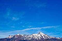 Mount Ruapehu and blue sky Stock Photography
