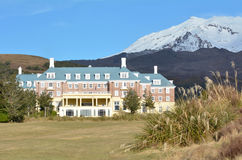 Mount Ruapehu and The Chateau in Tongariro National Park Royalty Free Stock Photography