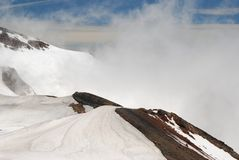 Mount Ruapehu crater hike Stock Photography