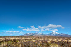 Mount Ruapehu Landscape Tongariro National Park, New Zealand Stock Photo