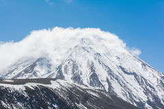 Mount Ruapehu and Tama Lake Landscape Tongariro National Park, N Royalty Free Stock Images