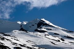 Mount Ruapehu in the Tongariro National Park Stock Images