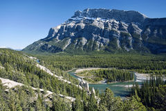 Mount Rundle. In Banff National Park.  Alberta, Canada Stock Images