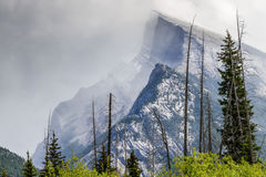Mount Rundle - Banff National Park, Alberta, Canada Stock Images