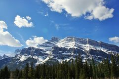 Mount Rundle in Banff National Park Royalty Free Stock Images