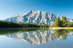 Mount Rundle from Cascade Pond Stock Photography