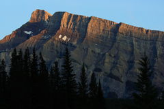 Mount Rundle Cliffs Stock Images