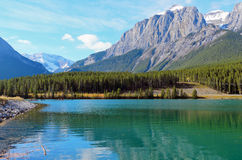 Mount Rundle and Grassi Lakes Royalty Free Stock Photos