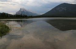Mount Rundle Reflection Stock Image