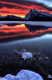 Mount Rundle and Vermillion Lakes Stock Photography