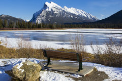 Mount Rundle View Royalty Free Stock Photo