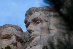 Mount Rushmore Линкольн и Рузвельт стоковые фотографии rf