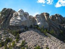 Mount Rushmore на солнечной предпосылке стоковые фотографии rf