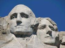 Mount Rushmore. George Washington and Thomas Jefferson at Mount Rushmore royalty free stock image