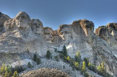 Mount Rushmore. Enhanced slightly with HDR effects Royalty Free Stock Photography
