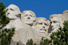 Mount Rushmore. In South Dakota on a sunny morning Royalty Free Stock Photos