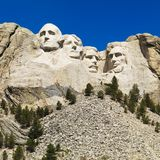 Mount Rushmore. Mount Rushmore National Memorial with mountain and trees stock image