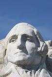 Mount Rushmore. Closeup of President George Washington sculpture on Mount Rushmore National Memorial, South Dakota, U.S.A stock images